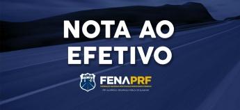 FenaPRF - Nota aos Policiais Rodoviários Federais